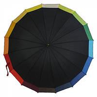 Зонт-трость полуавтомат женский RB-266 16 спиц