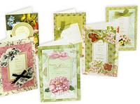 Открытка, заготовки для открыток (набор для скрапбукинга) 6 шт.