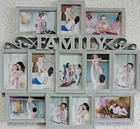 Мультирамка на 12 фото FAMILY, фото 1