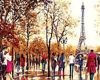 Живопись по номерам без коробки Осенний Париж (BK-GX21174) 40 х 50 см