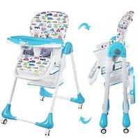 Детский стульчик для кормления Bambi Голубой (M 3234-3) с регулировкой столика