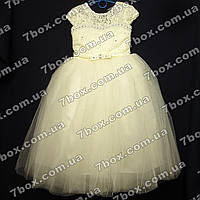 Детское нарядное платье бальное Бэль (молочное) Возраст 6-7 лет., фото 1
