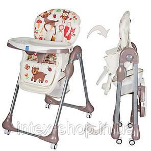 Детский стульчик для кормления Bambi (M 3234-2) БЕЖЕВЫЙ, фото 2