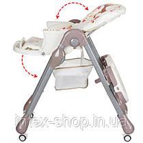 Детский стульчик для кормления Bambi (M 3234-2) БЕЖЕВЫЙ, фото 3