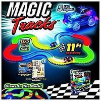 Конструктор детская автодорога Magic Tracks (Мэджик Трек) 165 деталей, светящаяся трасса.