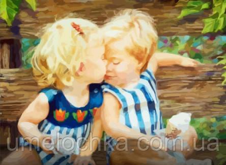 Живопись по номерам без коробки Счастливое детство (BK-GX7205) 40 х 50 см