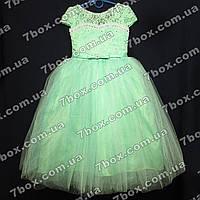 Детское нарядное платье бальное Бэль (салатовое) Возраст 6-7 лет., фото 1