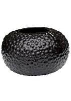 Ваза керамическая ETERNA G 0505 (глянец черный,  17.5x17.5x10.5 см)
