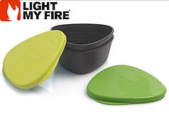 НАБОР ПОСУДЫ LIGHT MY FIRE SNAPBOX 2-PACK LIME/GREEN ( 40354413)