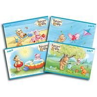 Альбом 12 листов Kite Popcorn Bear 241, на скобе, ламинация