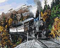 Живопись по номерам без коробки Идейка Скорый поезд (KHO2511) 40 х 50 см