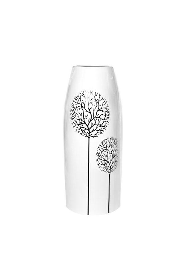 Ваза керамическая ETERNA 210218 (глянец белый, 13*13*38 см)