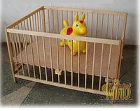 Детский манеж 120х80см - Деревянный манеж КМ 103