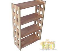Деревянная этажерка на 4 полки (105х59,5х27см, бук и береза) ШТ 113