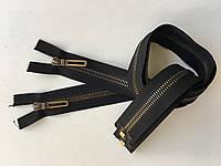 Застежка молния RIRI TOP6E метал полированная зубья бронза 65 см брелок Golf тесьма черная разъемная