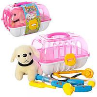 Доктор 251  собачка, в чемодане, 6 предм, в кульке, 26-18-20 см
