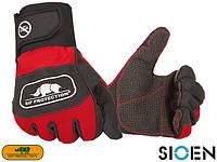 Перчатки укрепленные рабочие красные SIOEN Бельгия (перчатки для работы) SI-S-G2XD1 CB