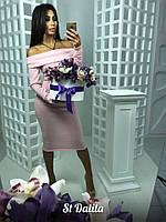Красивое теплое  платье в расцветках МБ-11.040
