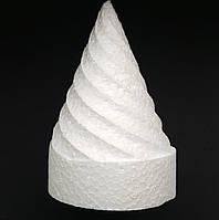 Конус пенопластовый резной Мороженое H 10 см, фото 1