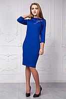 Трикотажное платье приталенного силуэта 118-7