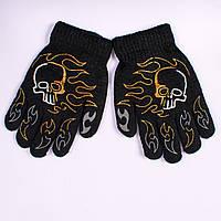 Детские перчатки двойные с начёсом Tanya 03-20-2. 16,5 см.