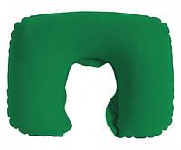 Надувная дорожная подушка для шеи 430×265 мм Зеленый