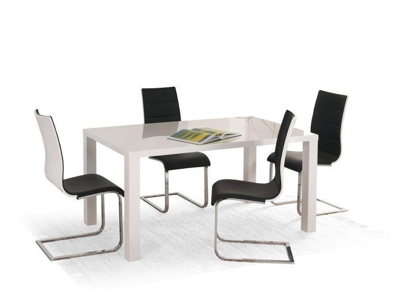 Стол обеденный раскладной Ronald 120-160х80 Белый (Halmar TM)