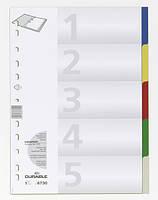 Индекс-разделитель цифровой А4 пластиковый Durable цветной ассорти (6730 27)