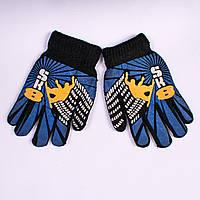 Детские перчатки двойные с начёсом Tanya 03-20-3. 16,5 см.