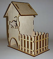 Чайный домик с конфетницей 17х10х20,5 см