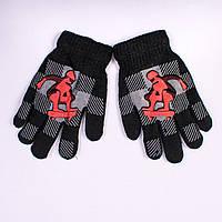 Детские перчатки двойные с начёсом Tanya 03-20-4. 16,5 см.