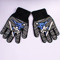 Детские перчатки двойные с начёсом Tanya 03-20-5. 16,5 см.