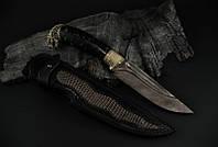 """Охотничий нож ручного изготовления """"Мамба"""", дамасск (наличие уточняйте)"""