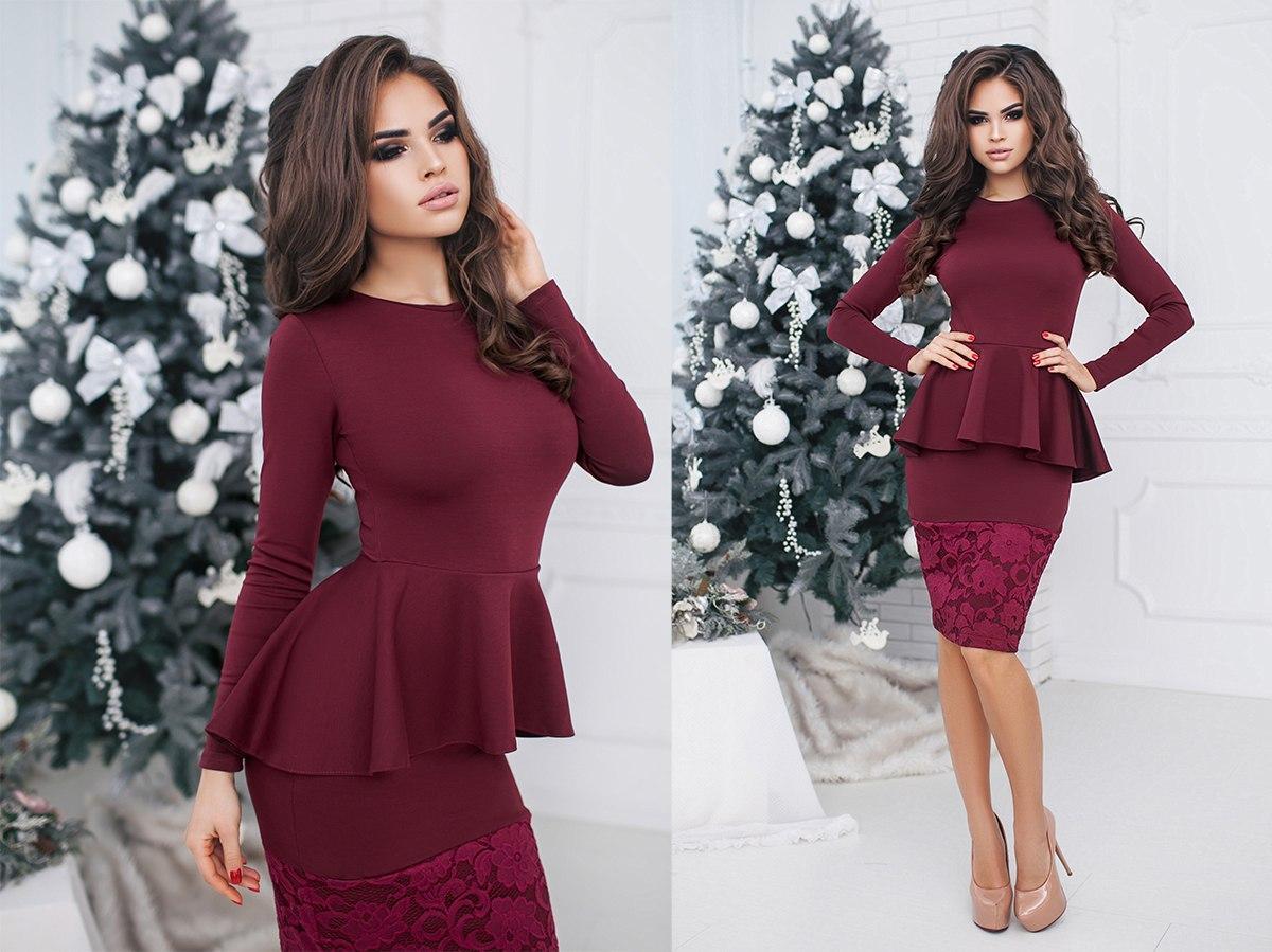 694be32131c Элегантное женское вечернее платье с баской  продажа