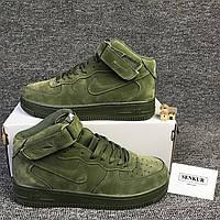 Мужские кроссовки Air Force 1 Mid High Olive Green 42 размера 1742d05620b89