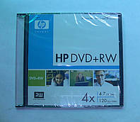 Диски DVD+RW HP 4.7Gb 4x Slim Case