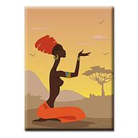 Картины на холсте Glozis Картина Glozis African girl, фото 1