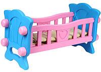 Кроватка для кукол Baby Born с постелью (до 46 см) Технок 4173