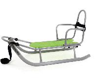 101 Санки PICCOLINO  со спинкой (серый с зелёным)