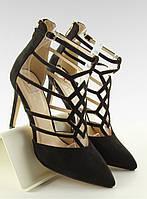 02-21 Черные женские туфли Ariana 40