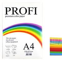 Бумага цветная PROFI (10 цв.) А4 , 80г/м2 , 250 листов