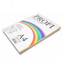 Набор цветной бумаги PROFI А4 100 листов 160г 5цв.х20л Lignt 82М (пастель)