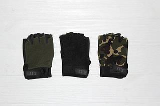 Стильные мужские перчатки без пальцев спортивные