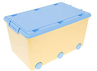 908 Ящик для игрушек Tega Chomik MIX  IK-008 (желтый/голубой(yellow/light blue))