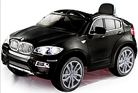 Электромобиль (T-791 BMW X6 BLACK) джип на р.у. 2*6V7AH мотор 2*35W с MP3 117*73.5*59