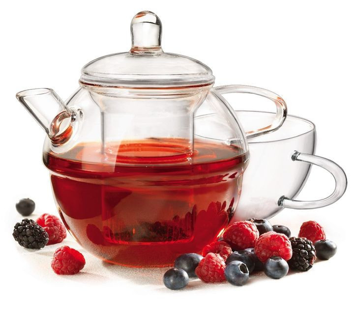 "Заварочный чайник с чашкой (700/390 мл) BORMIOLI ROCCO ""H DRINK RONDO"""