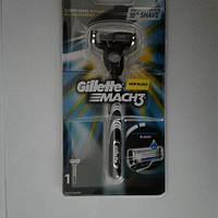 Станок для гоління чоловічий Gillette Mach 3 + 1 картридж (Жиллет Оригінал Новий дизайн)