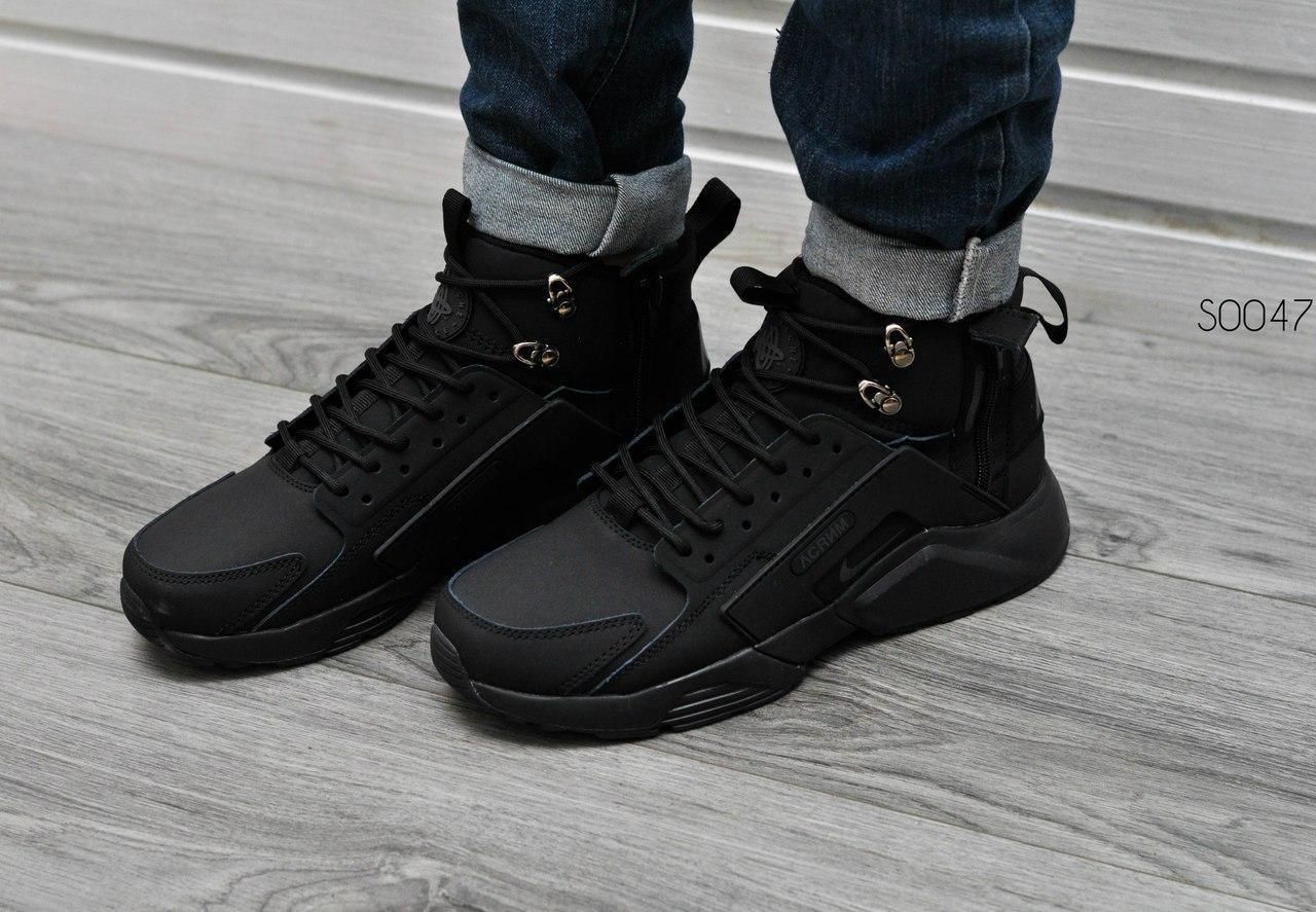 65bb265b Мужские кроссовки Huarache X Acronym City MID Leather Black, ...