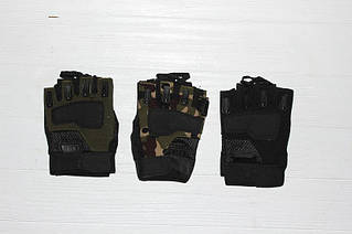 Перчатки трикотажные мужские спортивные без пальцев