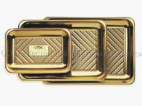 Поднос прямоугольный - Kado - Золотой - 51 х 37 см, фото 1